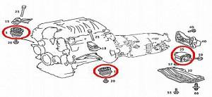 ベンツエンジンミッションマウント